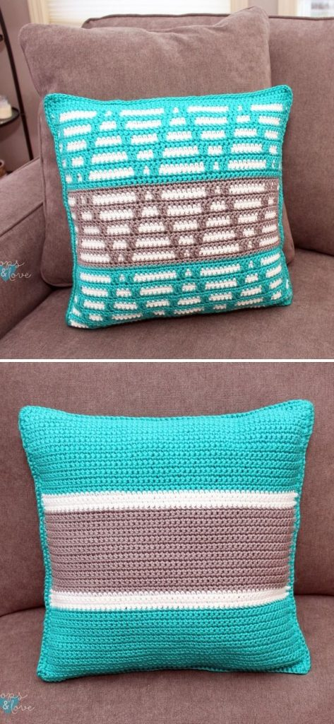 Mosaic Triangles Pillow