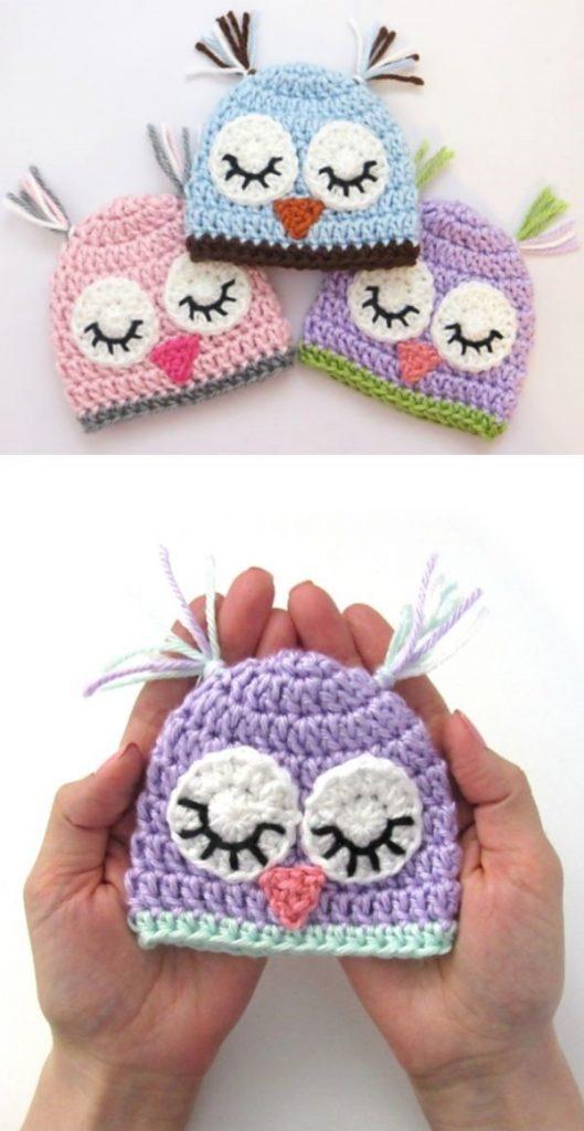 pastel tiny crochet hats for preemies
