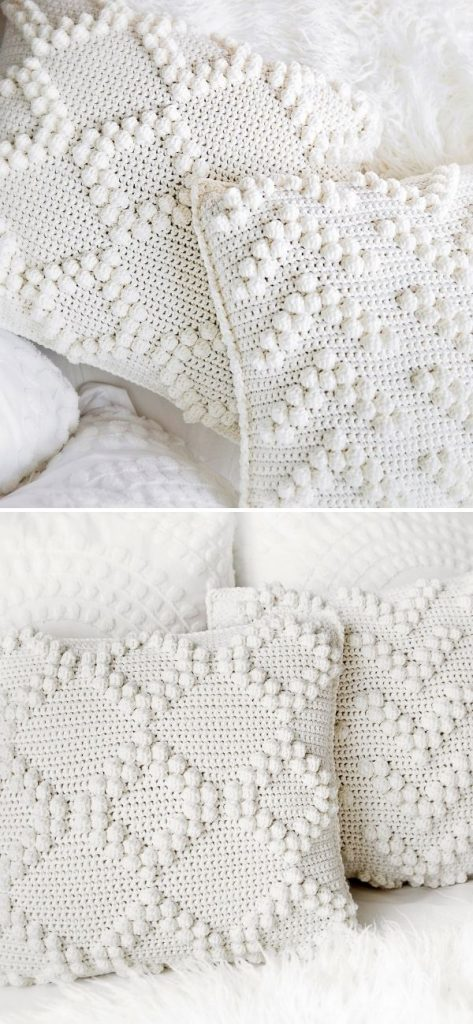 Chunky Bobble Stitch Pillow Covers