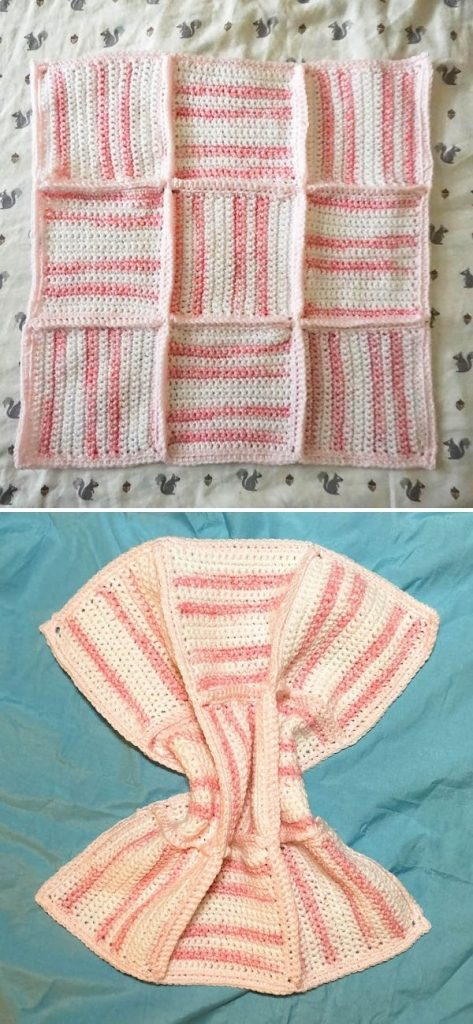 Gentle Stripes and Textures Baby Blanket