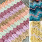 Sweet Soft Chevron Crochet Baby Blankets