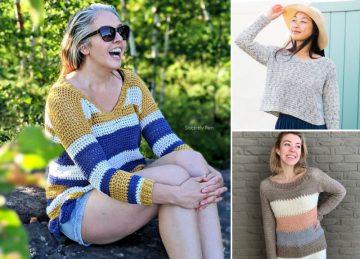 35+ Free Crochet Sweater Patterns