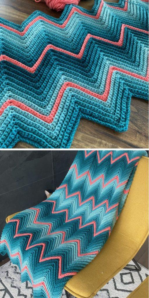 Aruba Crochet Chevron Blanket
