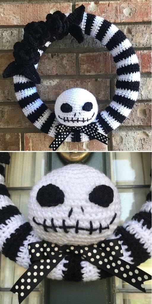Jack Skellington Halloween Wreath